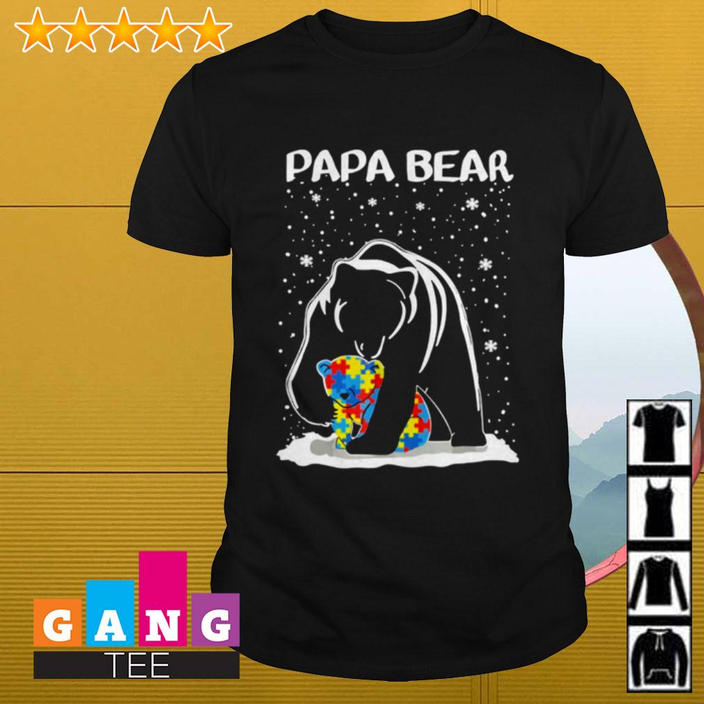 Autism Papa bear shirt