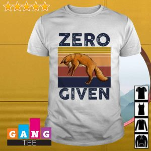 Fox zero given retro shirt