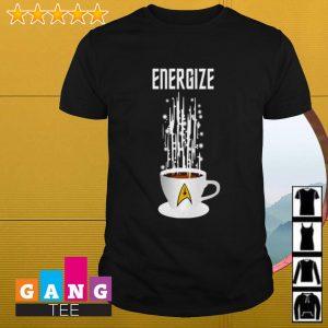 Star Trek Energize coffee shirt