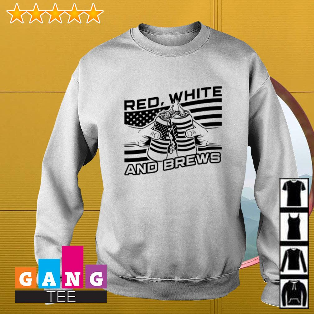 American flag beer Red white and brew Sweater