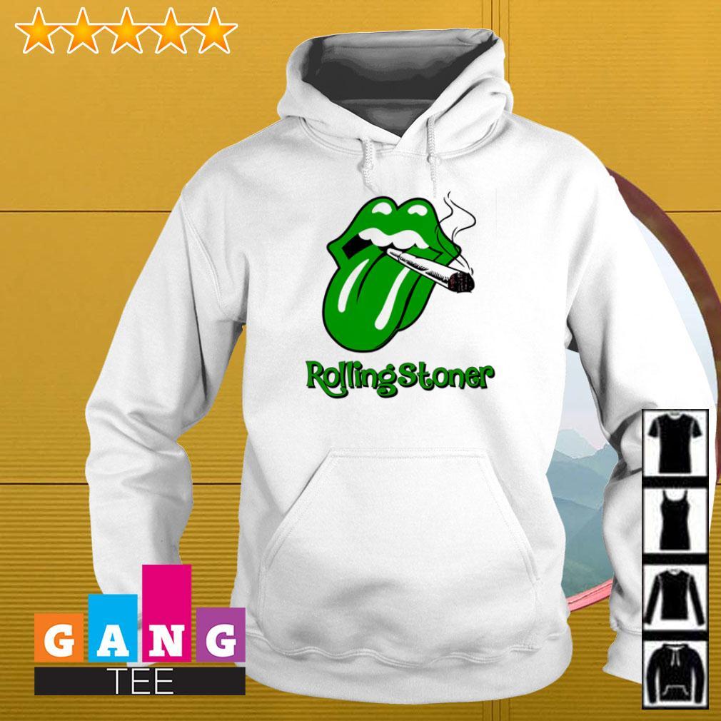 Cardi B tongue smoking cirgar Rolling Stones Hoodie