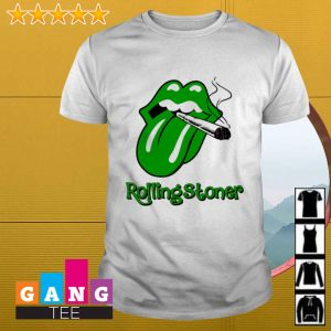 Cardi B tongue smoking cirgar Rolling Stones shirt