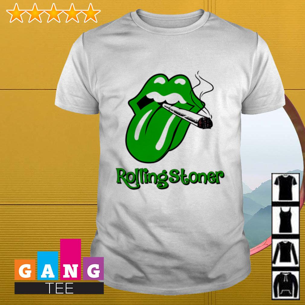Cardi B tongue smoking cirgar Rolling Stones shirt