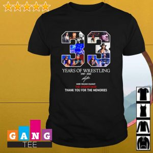 33 years of wrestling 1987-2020 signature mark william calaway the undertaker shirt