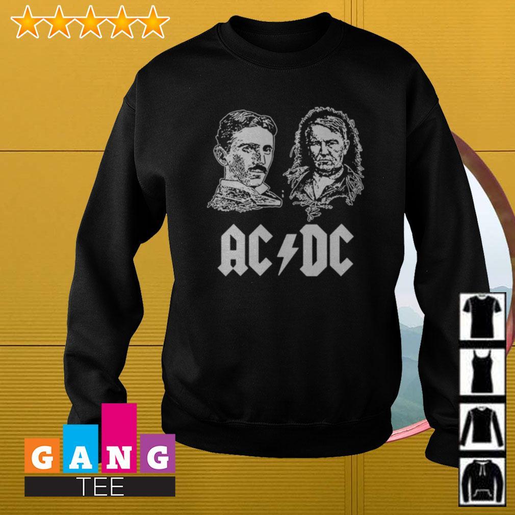 ACDC Nikola Tesla Thomas Edison Sweater
