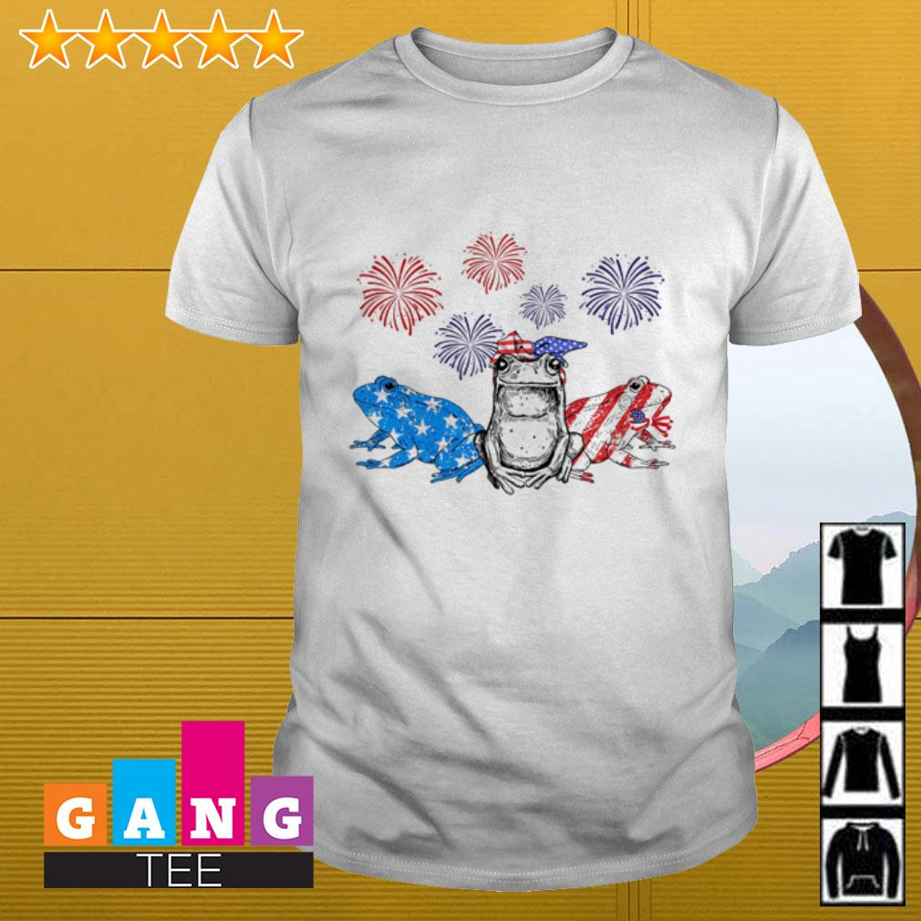 Frog American flag 4th Of July independence day shirt