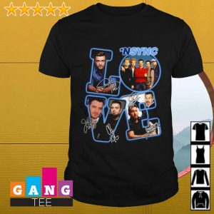 Love NSYNC signature shirt