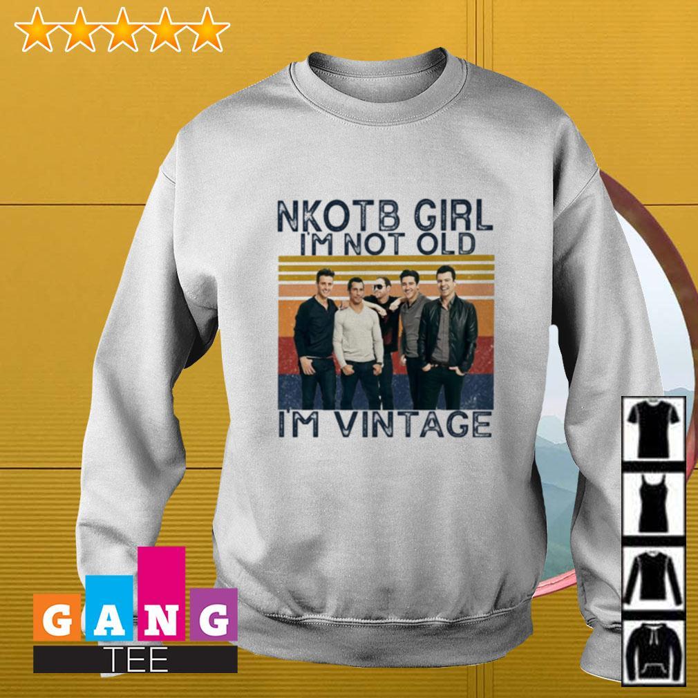 New Kids On The Block NKOTB girl I'm not old I'm vintage Sweater