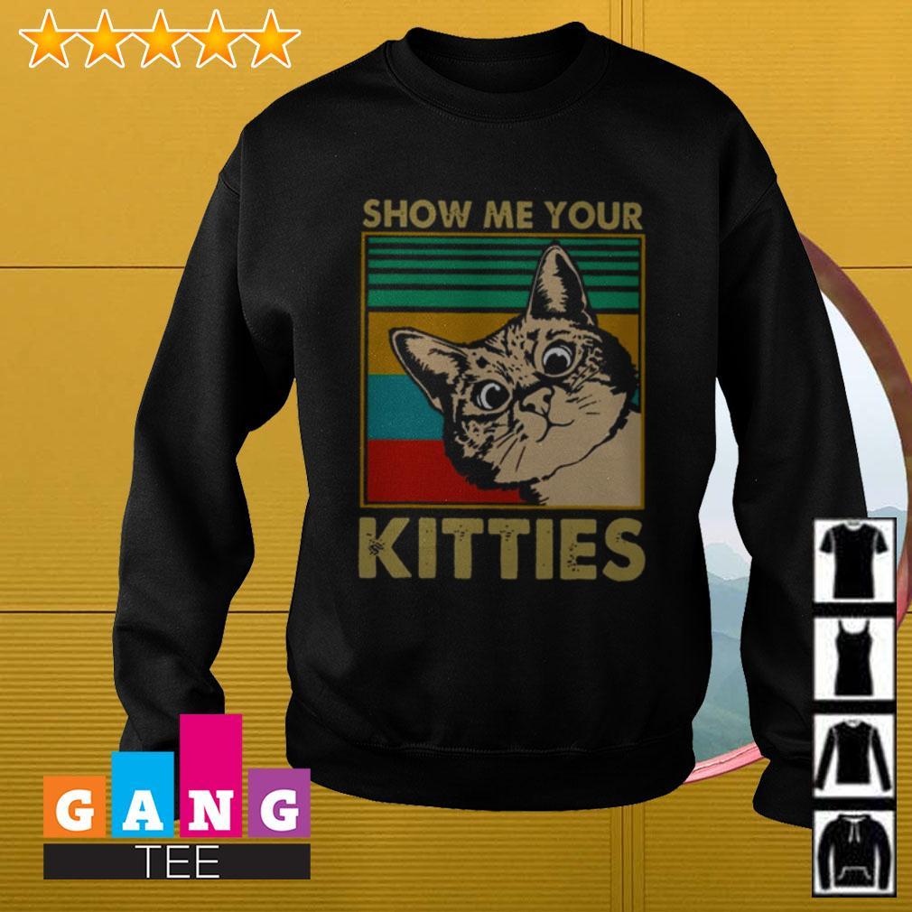 Show me your kitties retro Sweater