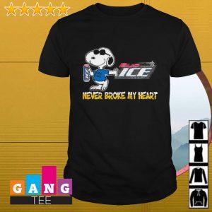 Snoopy Bud Ice never block my heart shirt