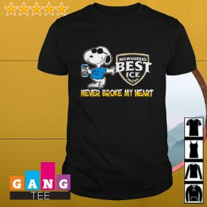 Snoopy Milwaukee's Best Ice never block my heart shirt