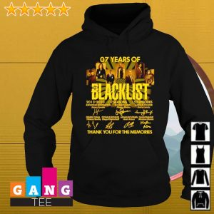 07 Years of the blacklist 2013-2020 signatures thank you for the memories s Hoodie