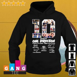 10 years of One Direction 2010-2020 signature s Hoodie