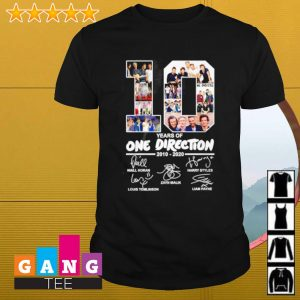 10 years of One Direction 2010-2020 signature shirt