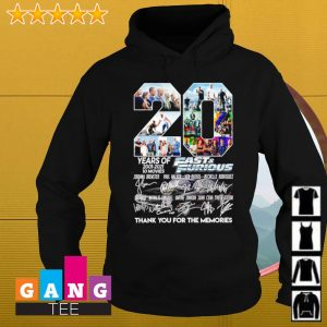 20 years of 2001-2021 Fast and furious signature thank you for the memories s Hoodie