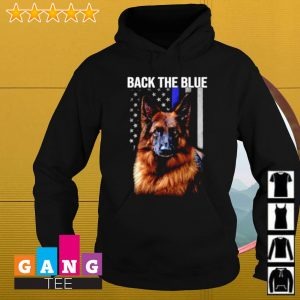German Shepherd flag American back the blue s Hoodie