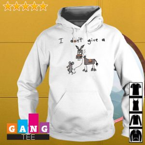 I Don't Give A Mouse Walking Donkey s Hoodie
