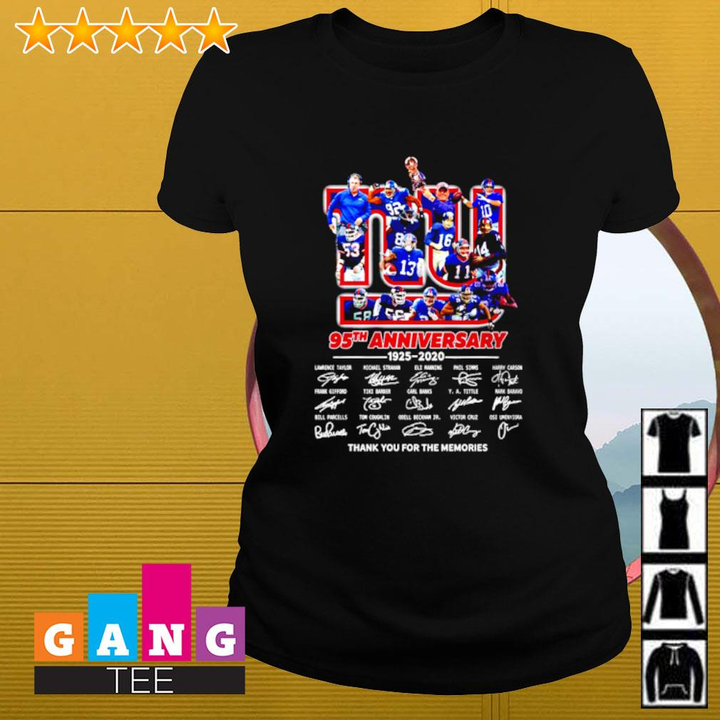 New York Yankee 95th anniversary 1925-2020 signature thank you for the memories s Ladies-tee