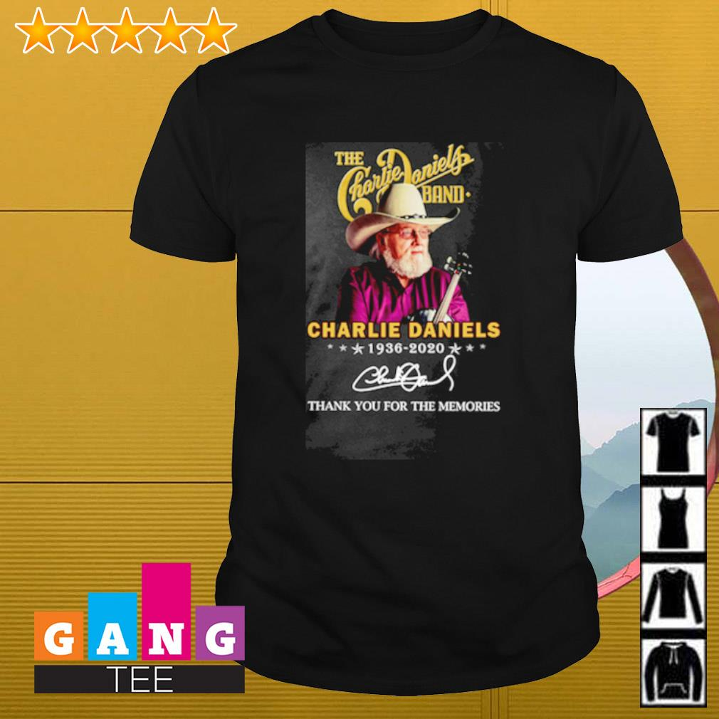 The Charlie daniels band Charlie Daniels 1936-2020 signature thank you for the memories shirt