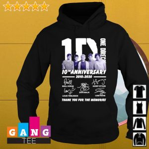 10 One Direction 10th anniversary 2010 2020 signatures thank you for the memories s Hoodie