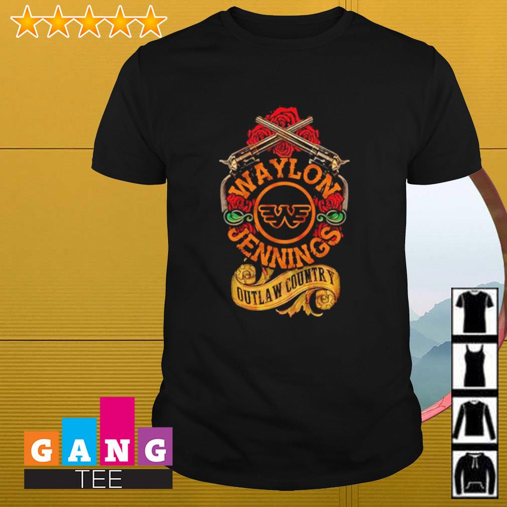 Waylon jennings outlaw country shirt