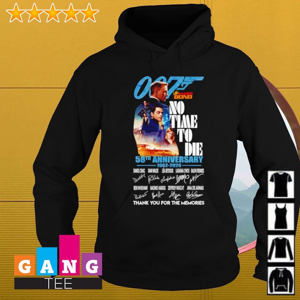 007 James Bond No time to die 58th anniversary 1962 2020 signatures thank you for the memories s Hoodie