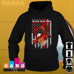Back the red flag American s Hoodie