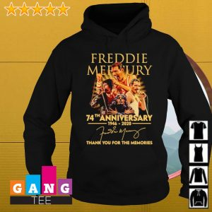 Freddie Mercury 74th anniversary 1946 2020 signatures thank you for the memories s Hoodie