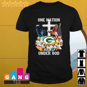 Green Bay Packers one nation under god shirt