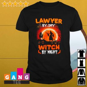 Lawyer by day witch by night Halloween shirt
