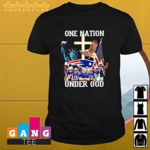 New England Patriots one nation under god shirt