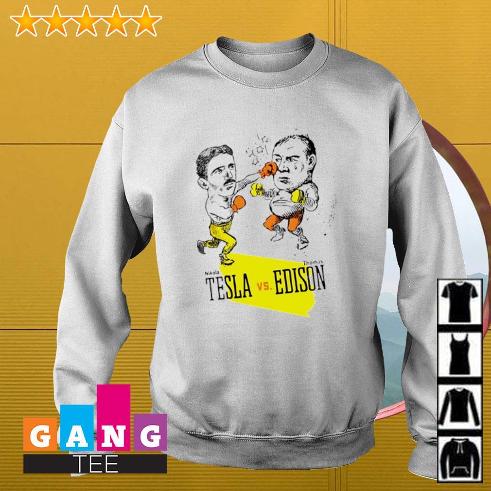 Boxing Nikola Tesla Vs Thomas Edison s Sweater