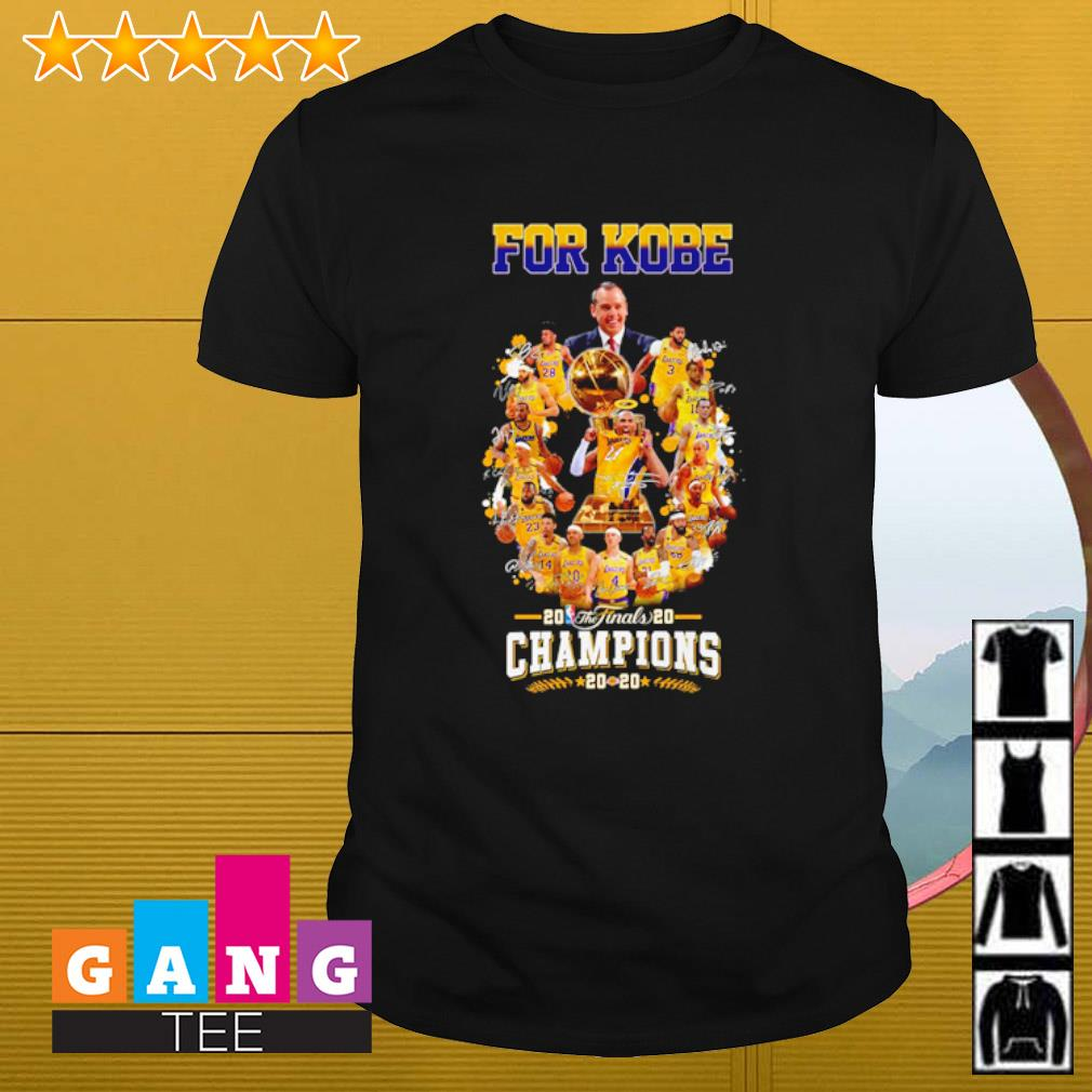 For Kobe 20 the Finals Champions Los Angeles Lakers 2020 shirt