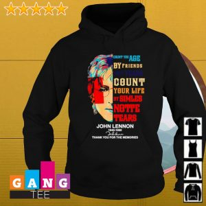 John Lennon 19401980 signatures Count you age by friends not years count your life thank you for the memories s Hoodie
