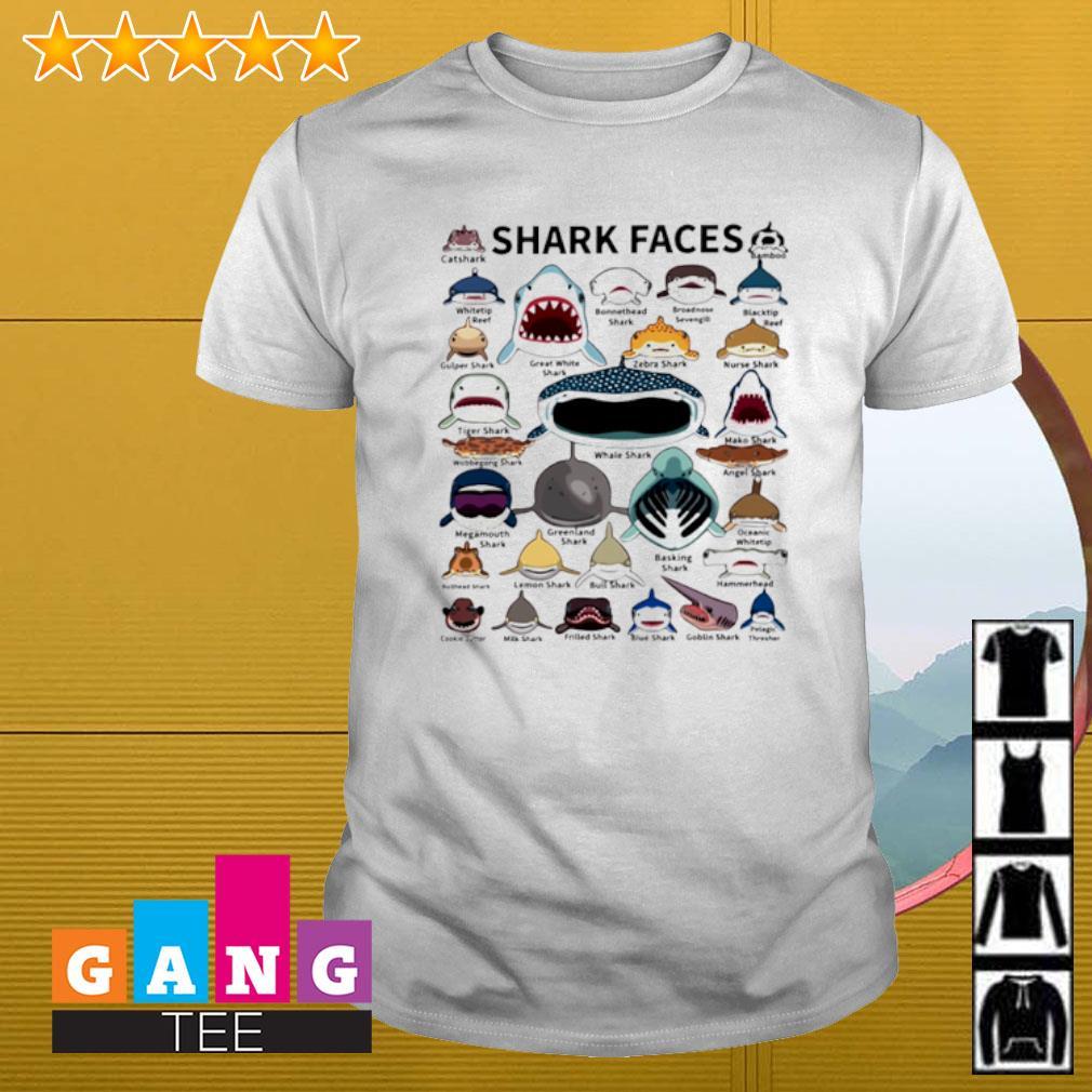 Love Shark faces shirt