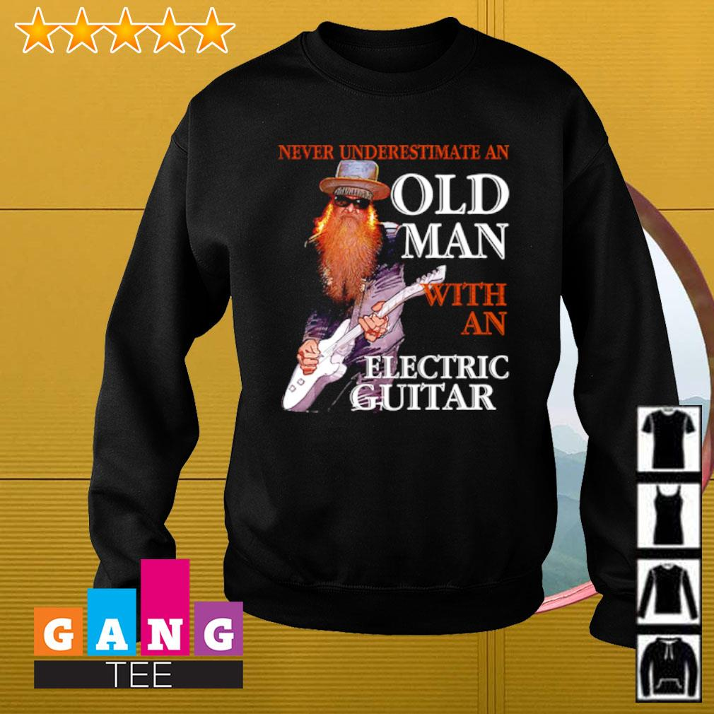Never underestimate an old man with an electric guitar s Sweater