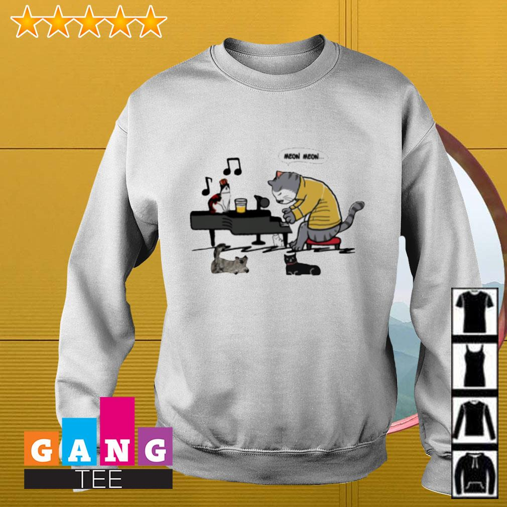 Meow Meow cat play piano Sweater