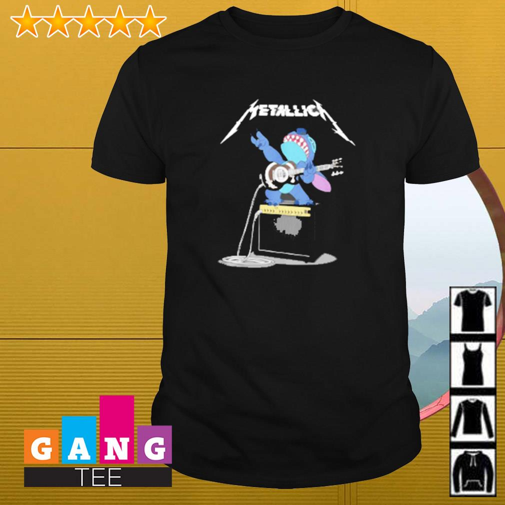 Metallica Stitch play guitar shirt