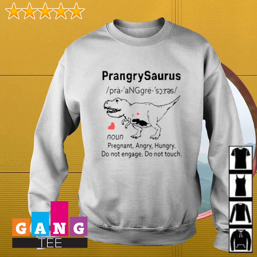 Prangrysaurus definition pregnant angry hungry do not engage do not touch Sweater