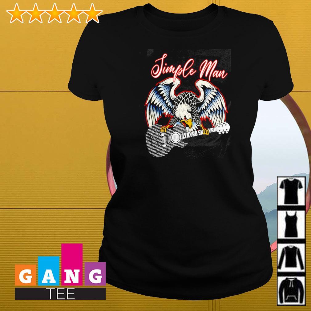 Simple man eagles guitar Lynyrd Skynyrd Ladies-tee