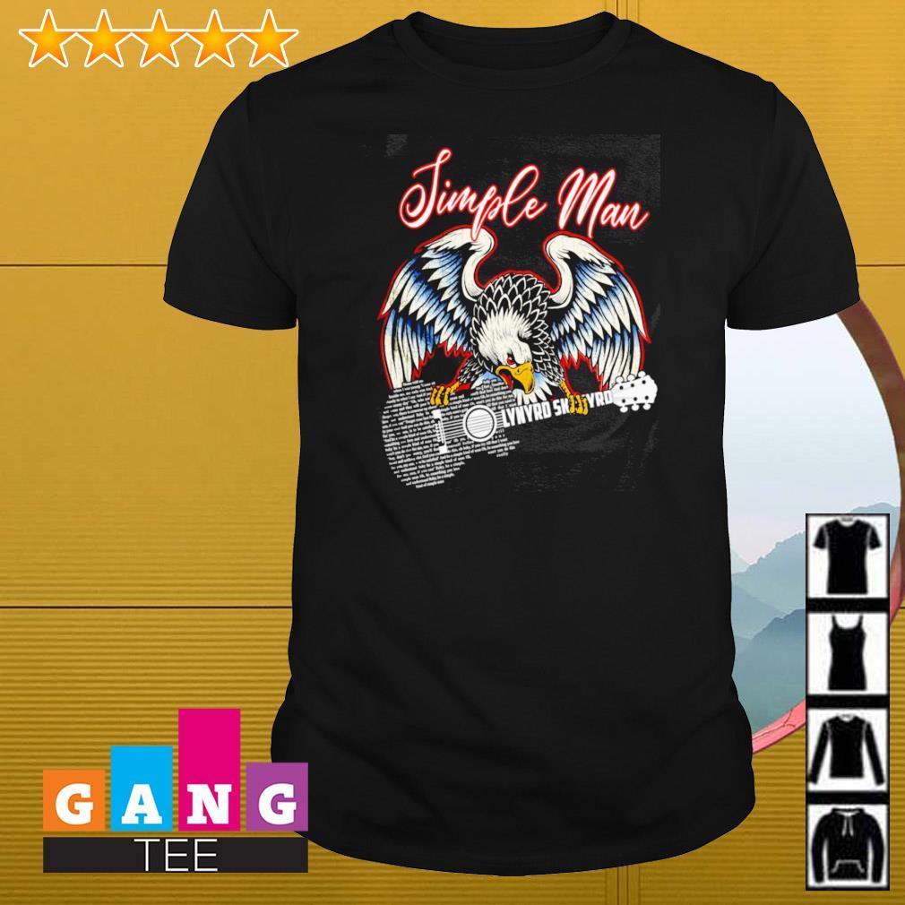 Simple man eagles guitar Lynyrd Skynyrd shirt