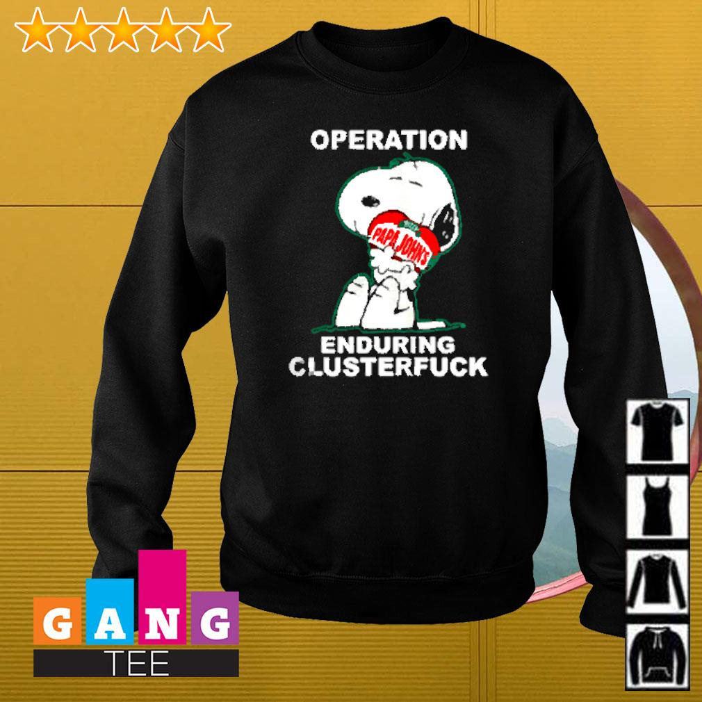 Snoopy hug Pizza Papa Johns operation enduring clusterfuck Sweater