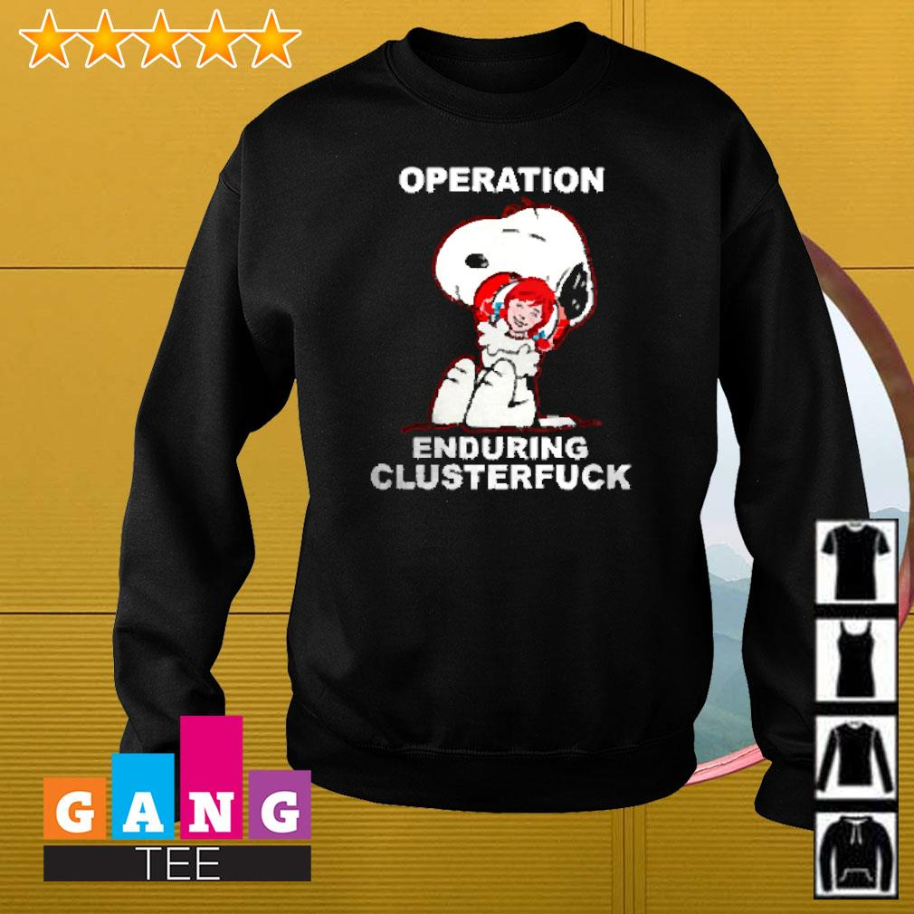 Snoopy hug Wendy's operation enduring clusterfuck Sweater