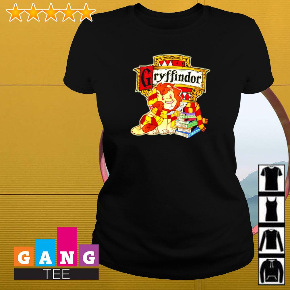 Gryffindor Lion and book Ladies-tee